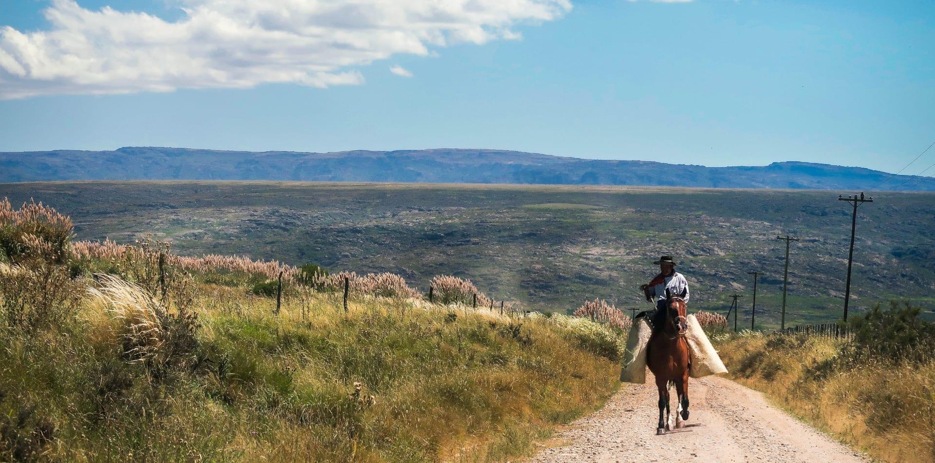 Local horse rider in Argentina