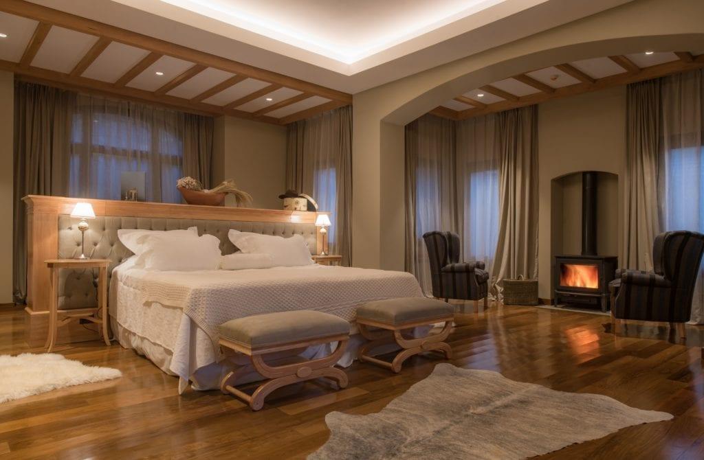 Argentina Villa Beluno Bedroom Fireplace
