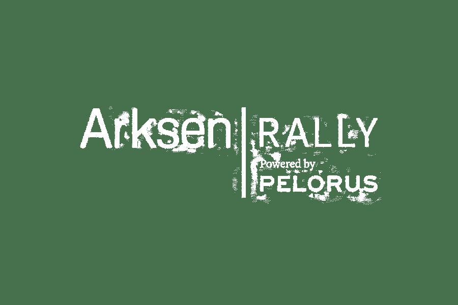 Arksen Rally white logo