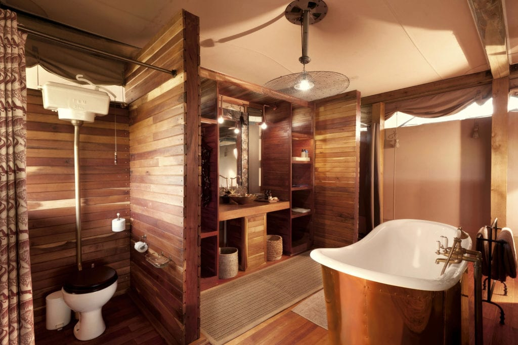 Interior of Bathroom at Somalisa Camp in Zimbabwe