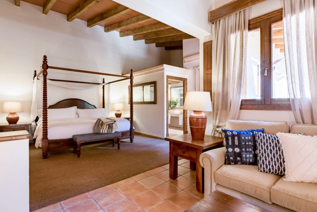 Bedroom Interior of LJs Ratxo Resort Mallorca Spain