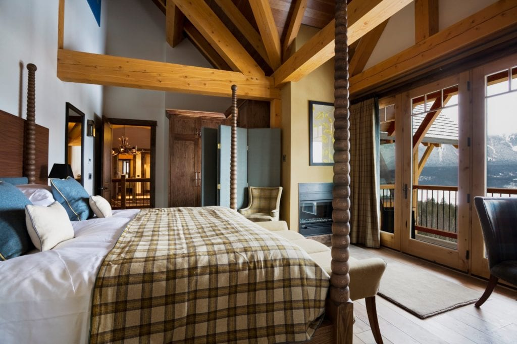 Canada Bighorn Chalet Bedroom Interior and Balcony