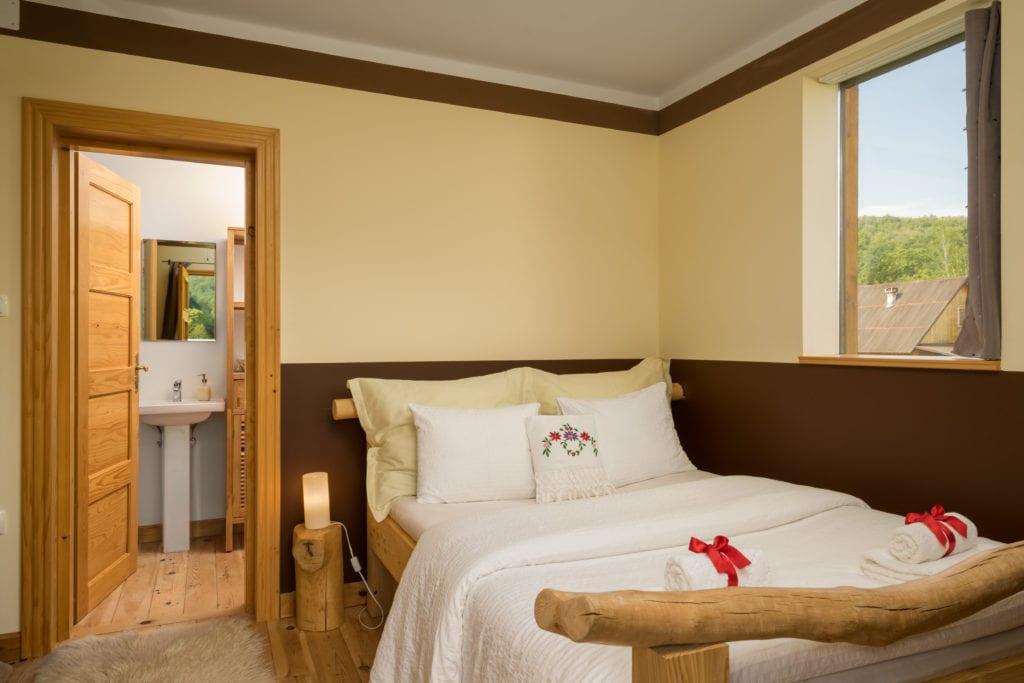 Bedroom Interior at Linden Tree Retreat and Ranch in Croatia