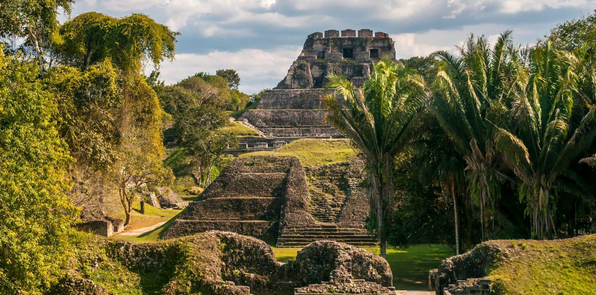 Maya temple in Belize