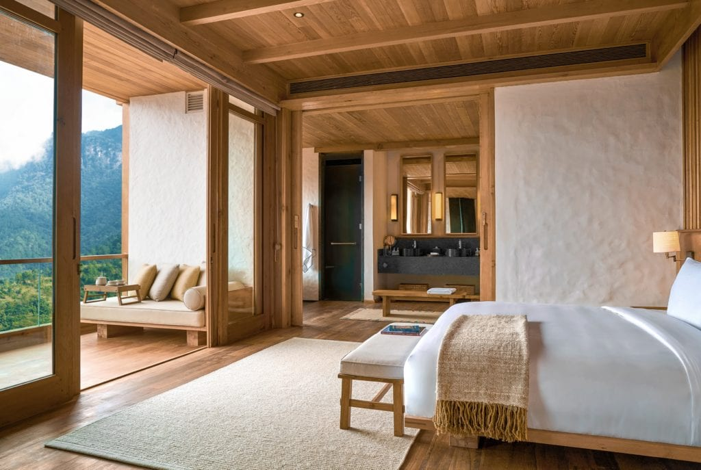 Bhutan Six Senses Thimphu Suite Bedroom