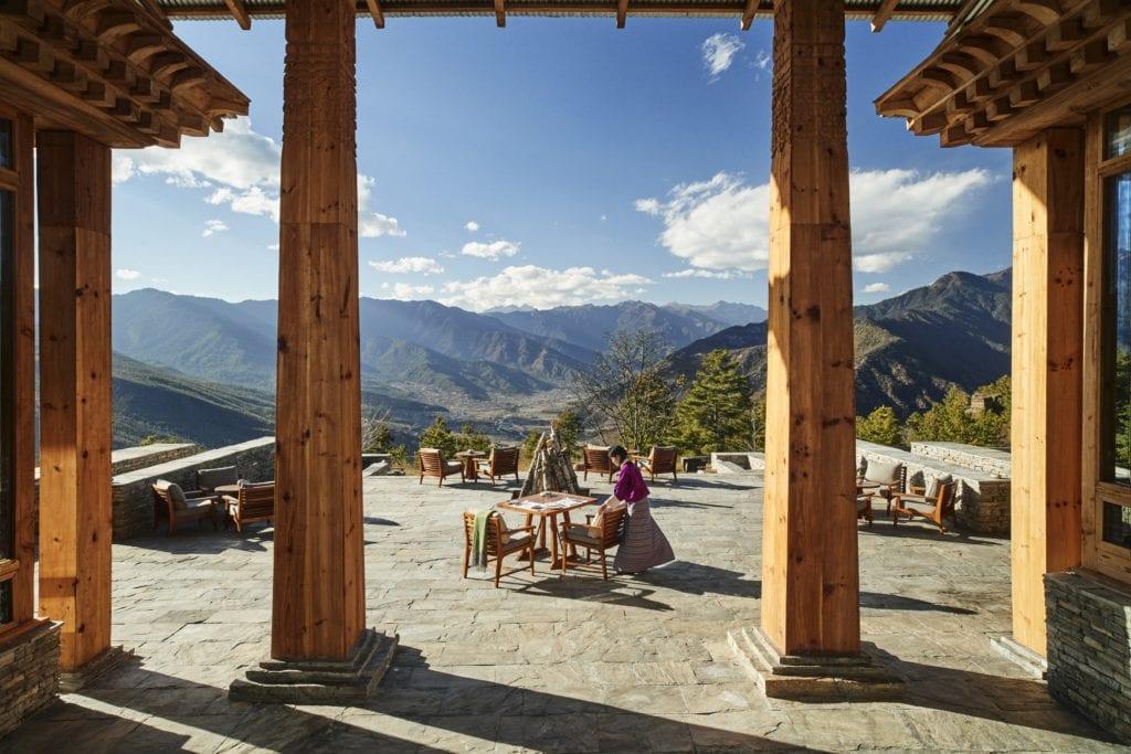 Bhutan Six Senses Paro Main Building Terrace