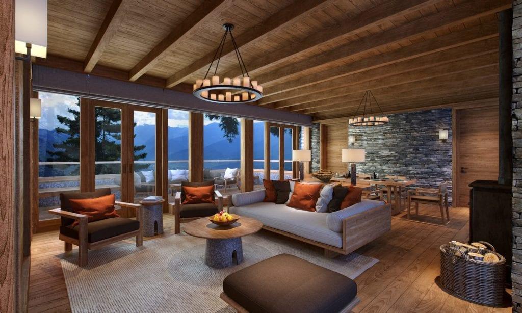 Bhutan Six Senses Paro Villa Livingroom