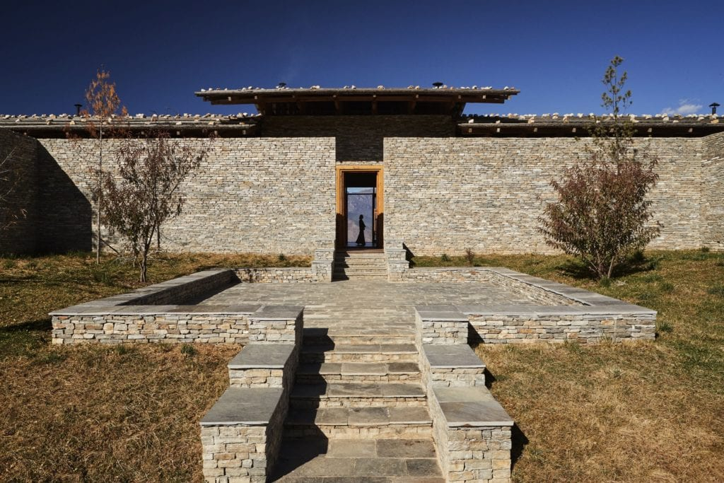 Bhutan Six Senses Paro Entrance