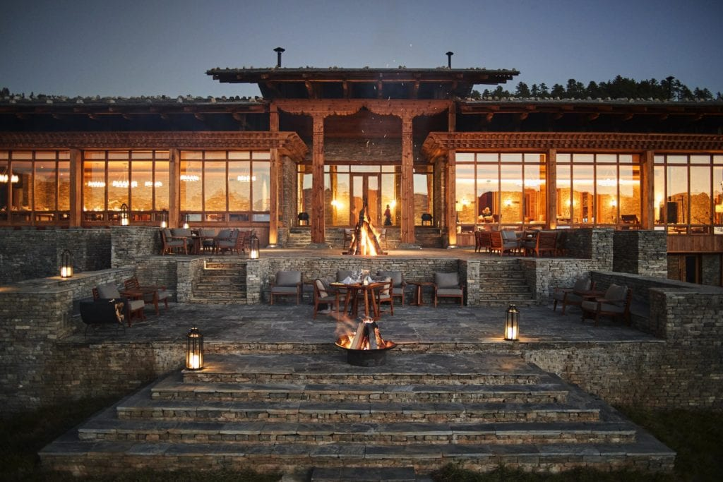 Bhutan Six Senses Paro Sunset Outdoor