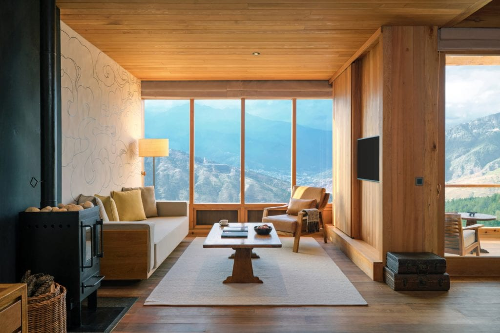 Bhutan Six Senses Thimphu Suite Living Room