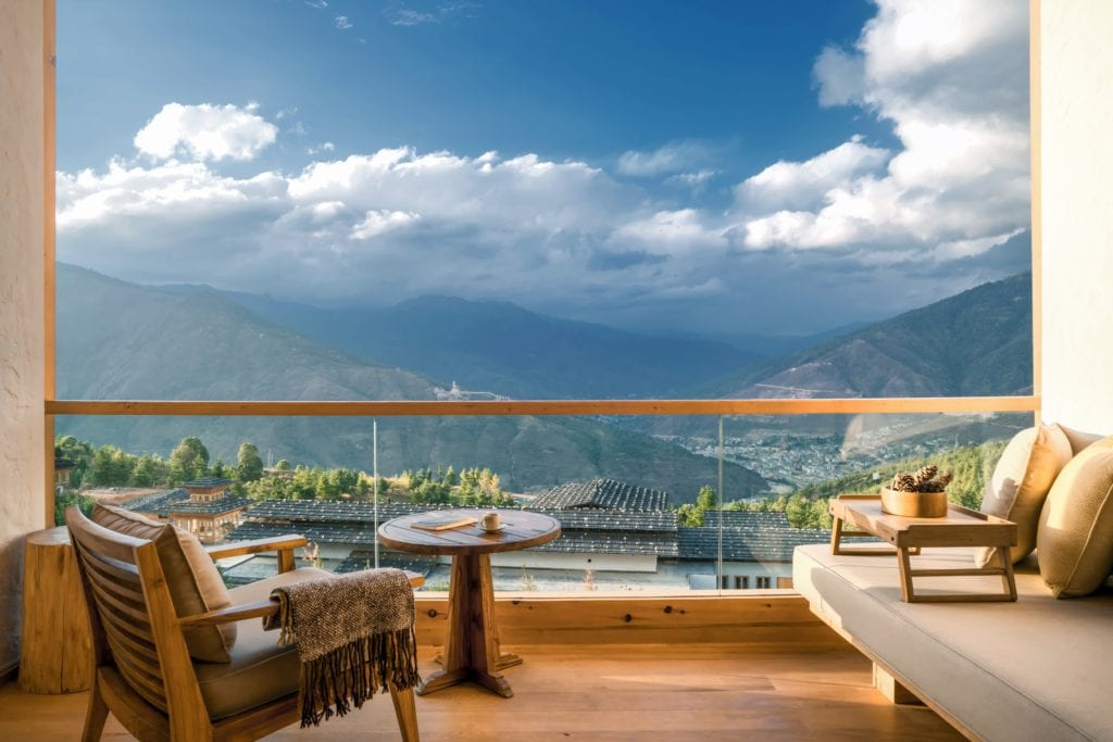 Bhutan Six Sense Thimphu Suite Balcony