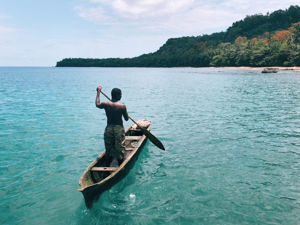 Sao Tome and Principe, Bom Bom, Boat