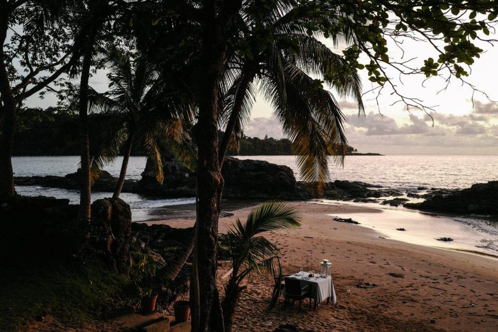 Sao Tome & Principe Bom Bom Beach Dining