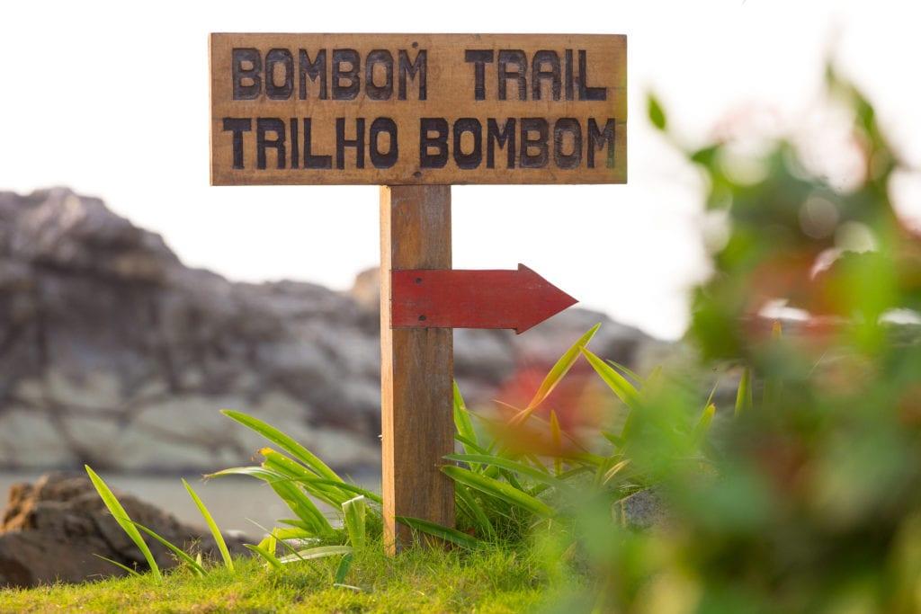 Sao Tome & Principe Bom Bom Trail Sign