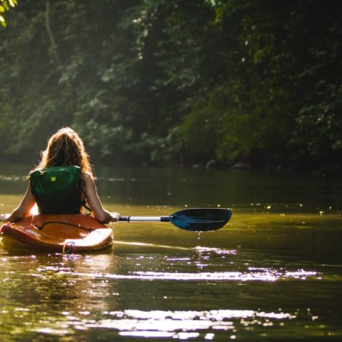 Kayaking on the Amazon River in Brazil