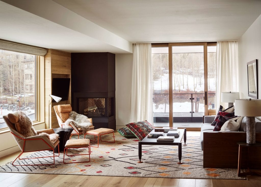 Caldera House Yellowstone Suite Interior Seating and Lounge Area America