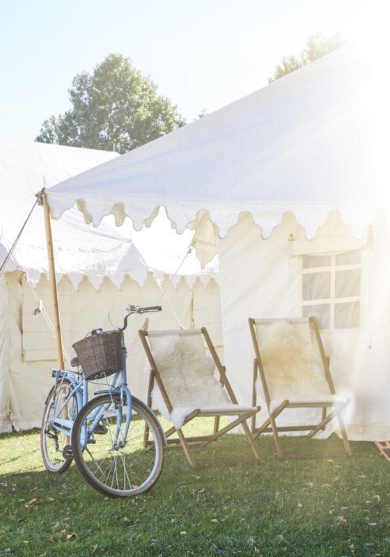 Exterior shot of a Camp Kerala tent