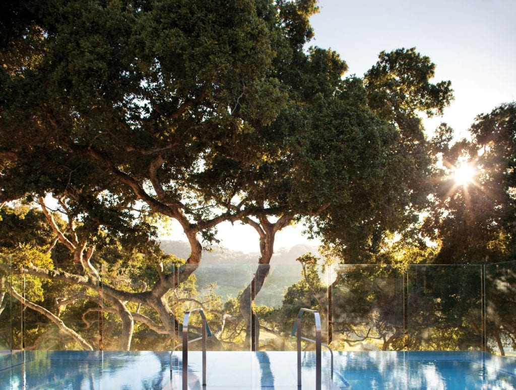 Carmel Valley Ranch Pool Infinity Jacuzzi at Sunset View America