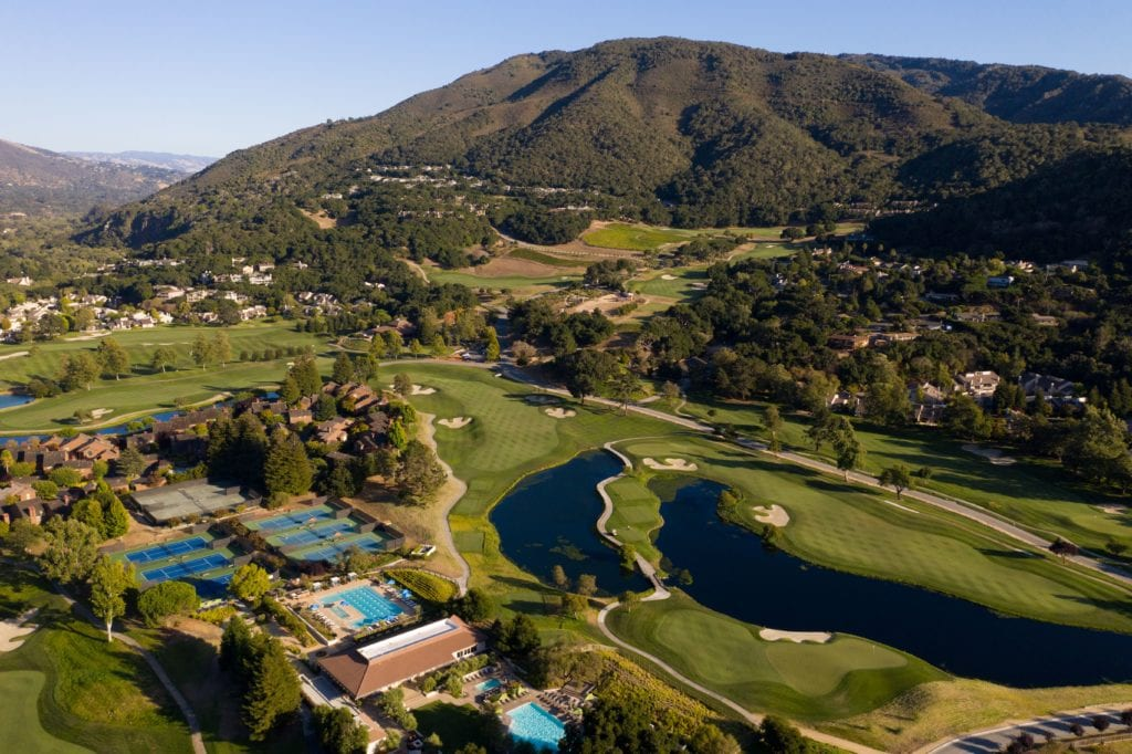 Aerial View of Carmel Valley Ranch America