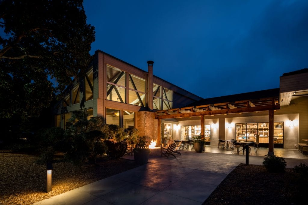 Carmel Valley Ranch Property Exterior Lobby and Market Entrance at Night America