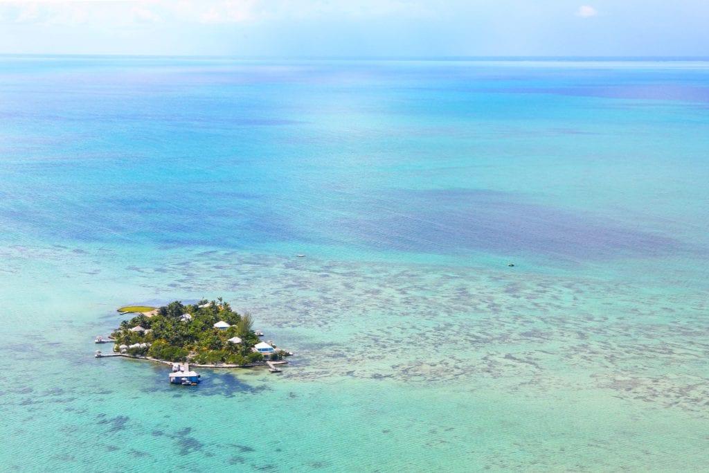Aerial View of Island Cayo Espanto Belize
