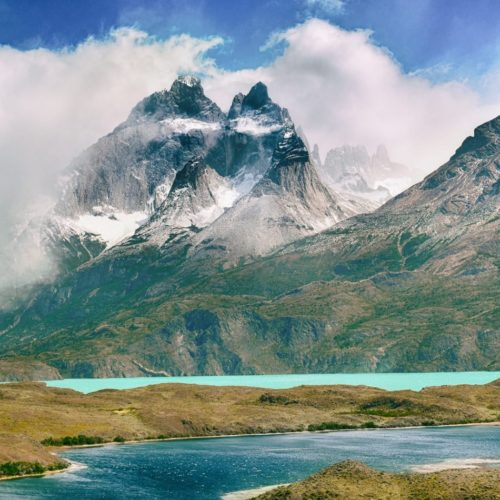 Andes mountain range in Chile