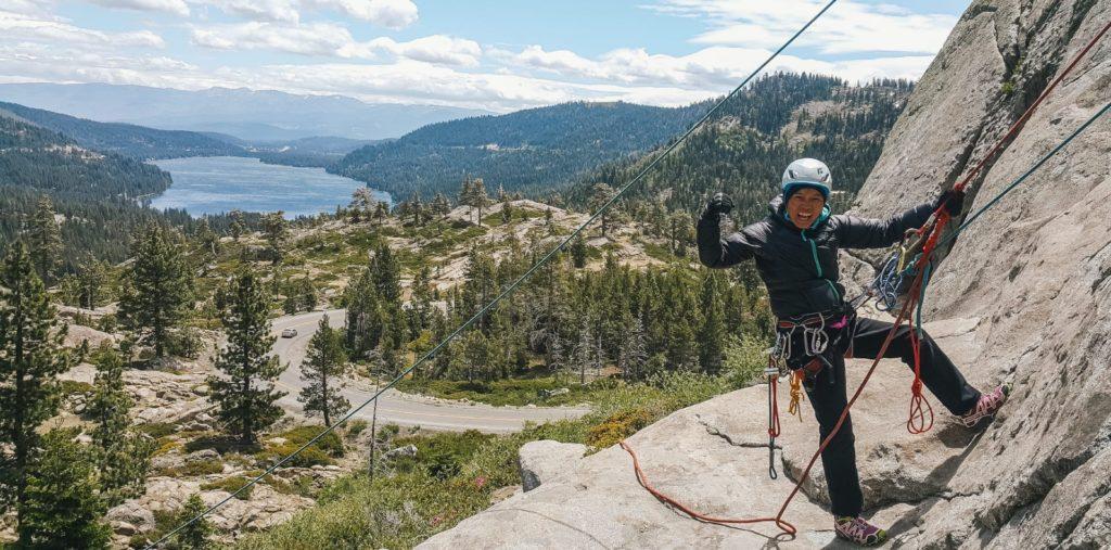 Climbing in California with Chan Yuen Li