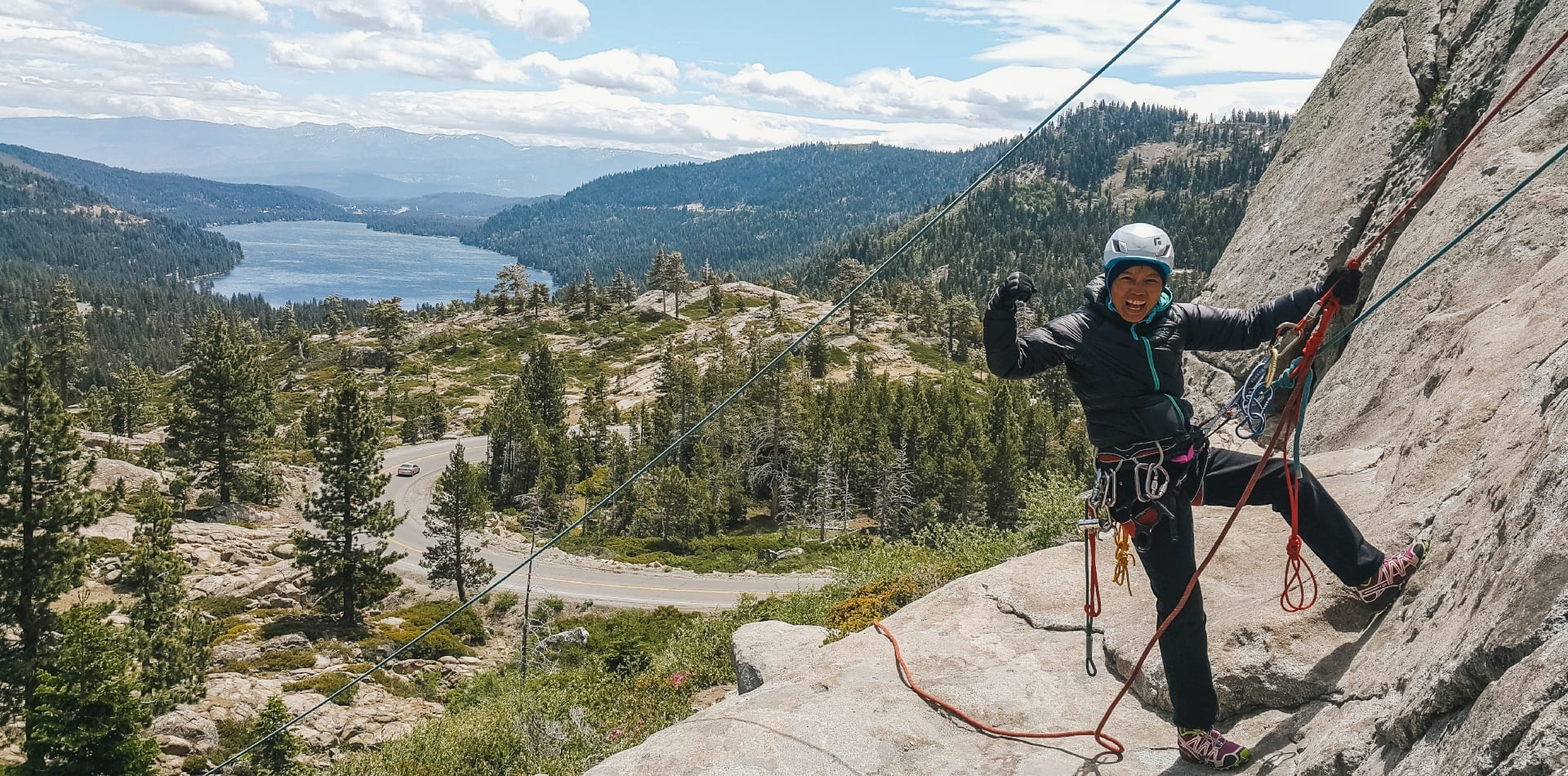 Climbing in California with Chan Yuen Li