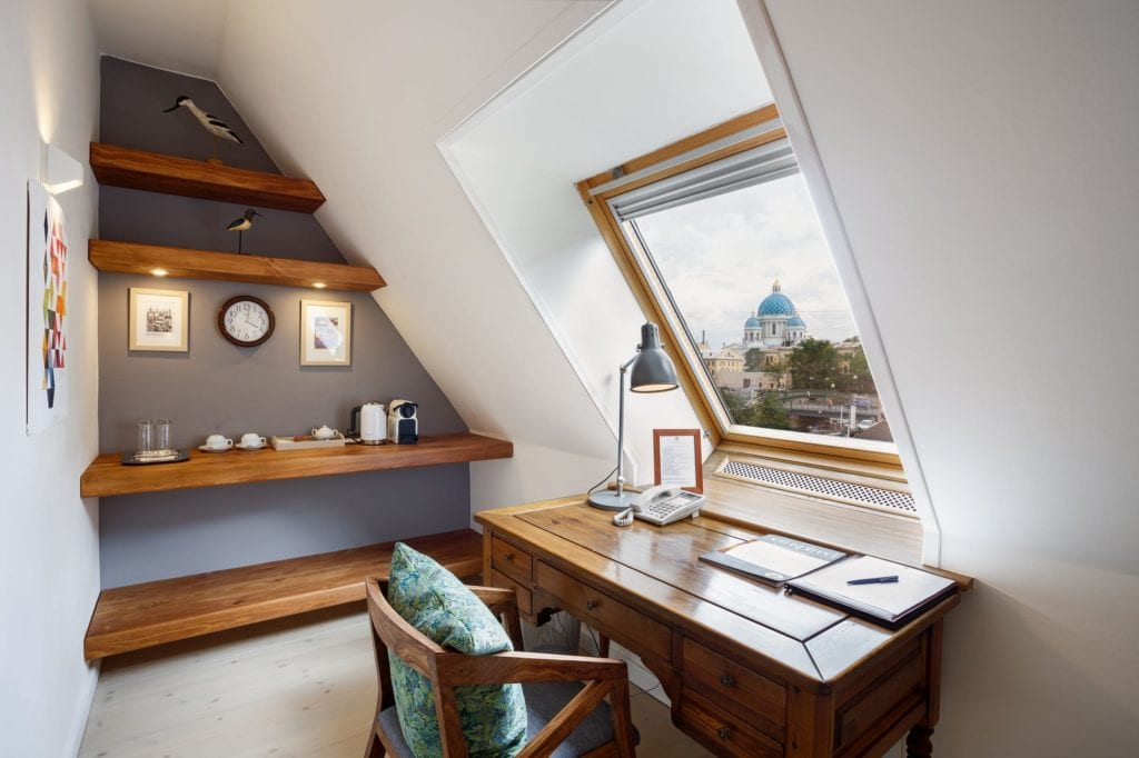 Copenhagen Room with View of Trinity Cathedral Alexander House St Petersburg