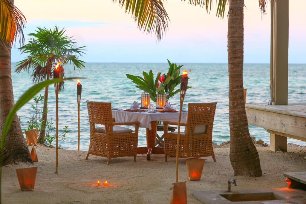 Cuisine at Sunset Cayo Espanto Belize