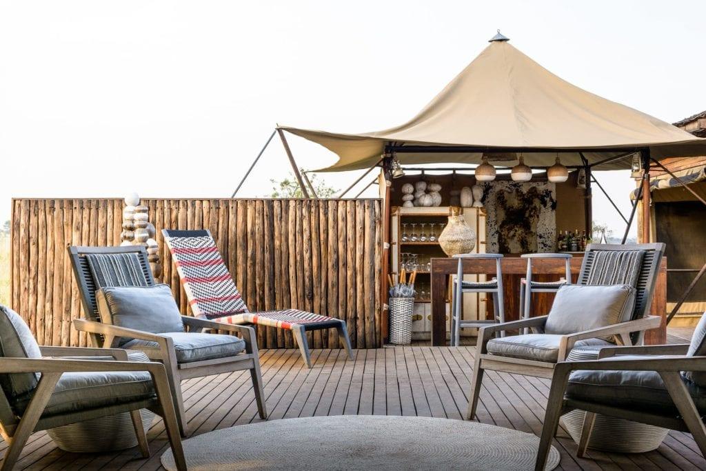 Tanzania Singita Outdoor Bar Area