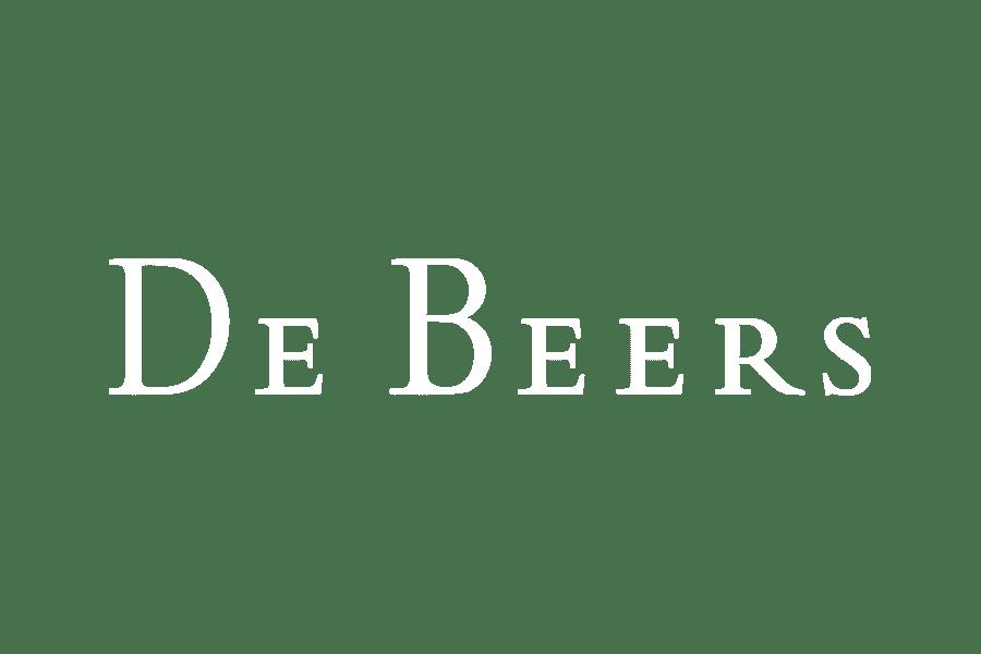 White logo DeBeers