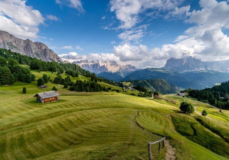 View of the Dolomites in Italy