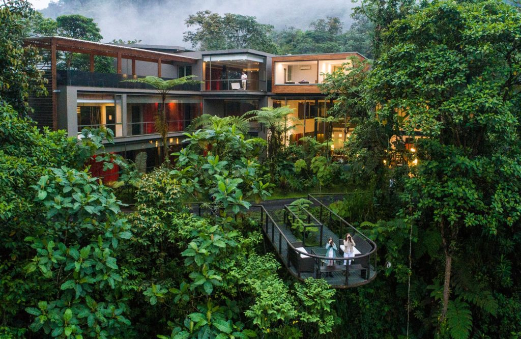 Mashpi Lodge in the heart of the Amazon rainforest
