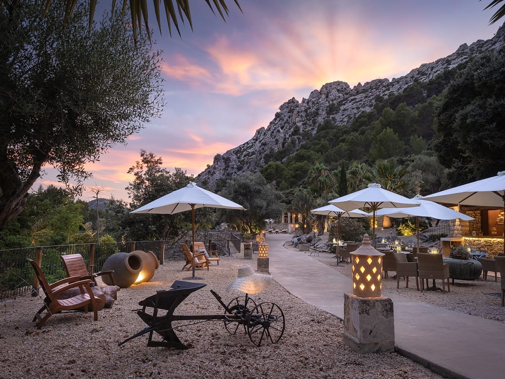 Exterior of Table and Seating Areas at LJs Ratxo Resort Mallorca Spain