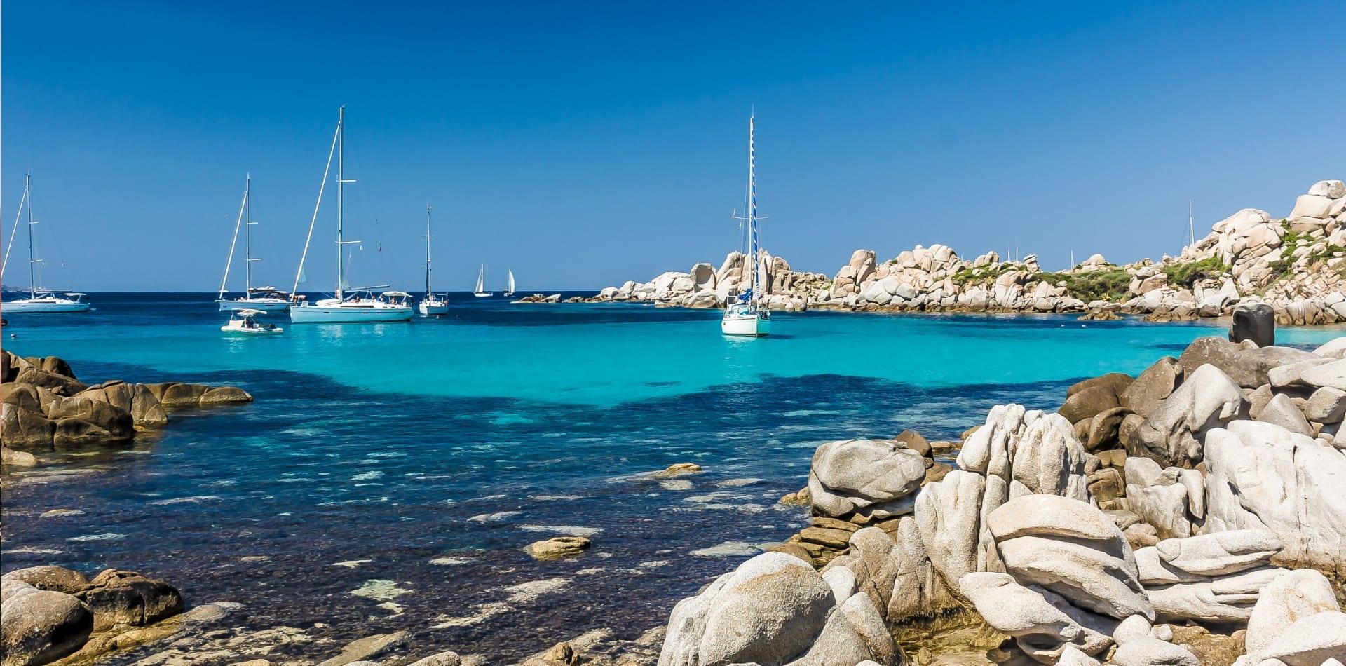 Corsica coastline in southern France