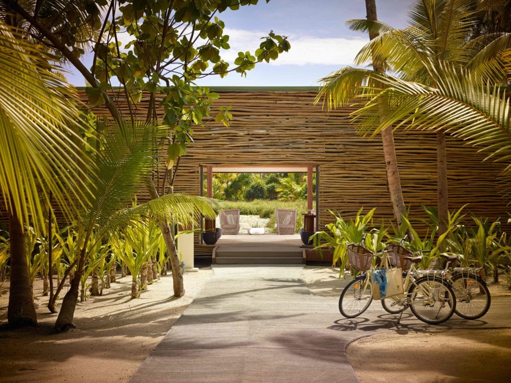 spa entrance The Brando French Polynesia