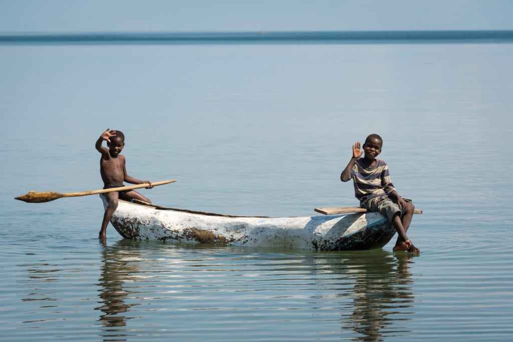 Locals at Lake Malawi Pumulani Africa