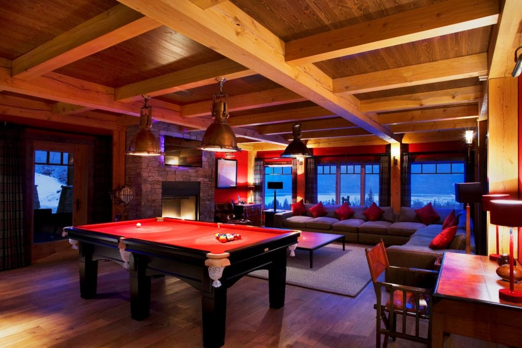 Canada Bighorn Chalet Games Room Lounge