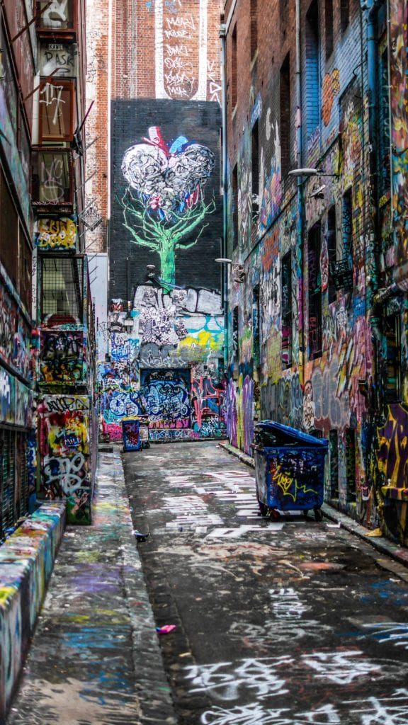 Graffiti in Melbourne Australia Photo by James Garman