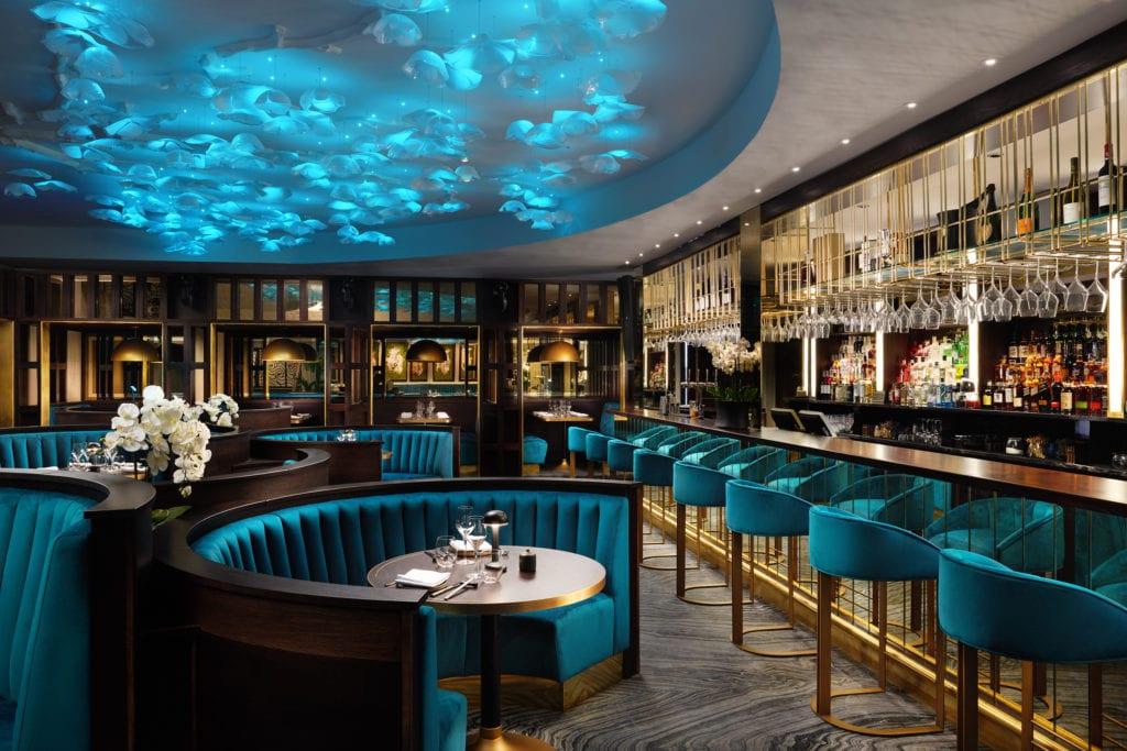 Grantley Hall Eighty Eight Bar Restaurant Interior Yorkshire England