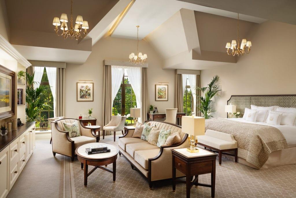 Grantley Hall Superior Suite Bedroom Interior Yorkshire England