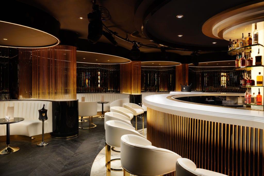 Grantley Hall Valerias Bar Restaurant Interior Yorkshire England