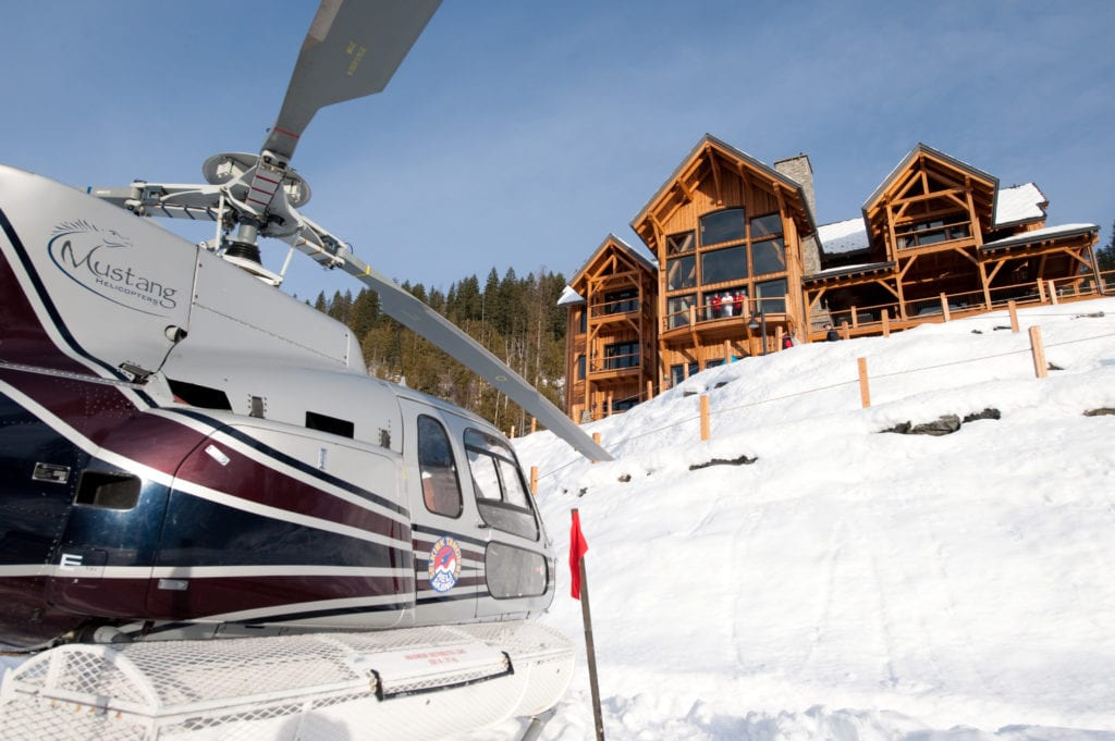 Canada Bighorn Chalet Helicopter and Exterior