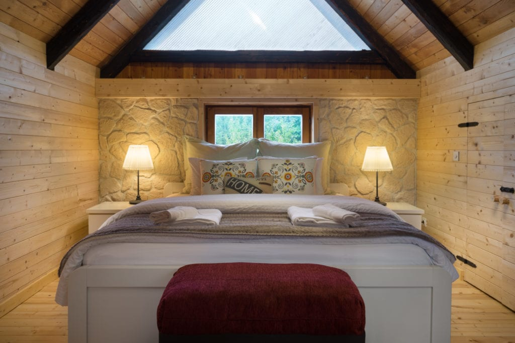 Interior of Bedroom at Linden Tree Retreat and Ranch in Croatia