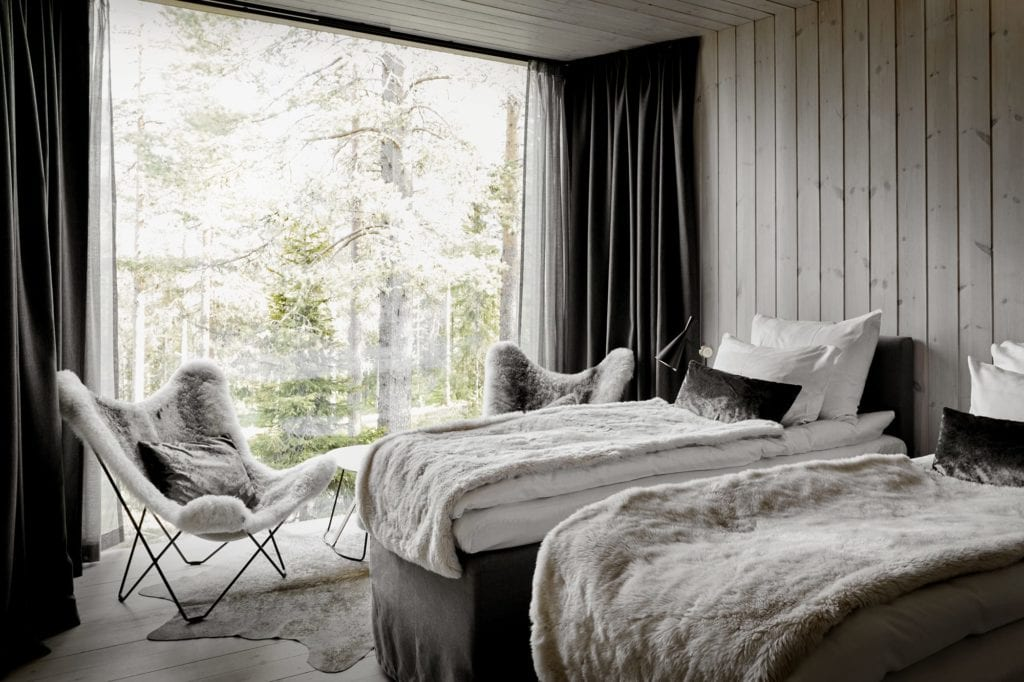 Interior of Room with Views at Arctic Treehouse Finland