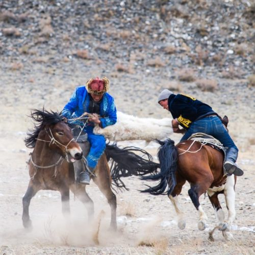 Horse riders in Mongolia