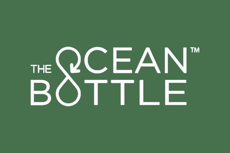 White Logo of Ocean Bottle