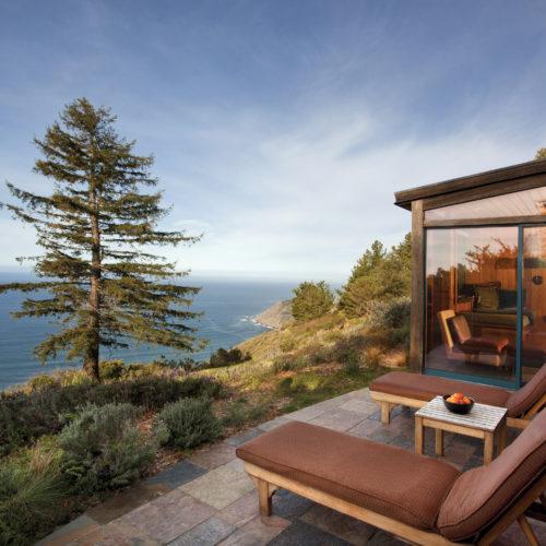 Ocean House Terrace Sun Loungers Post Ranch Inn Ocean View America