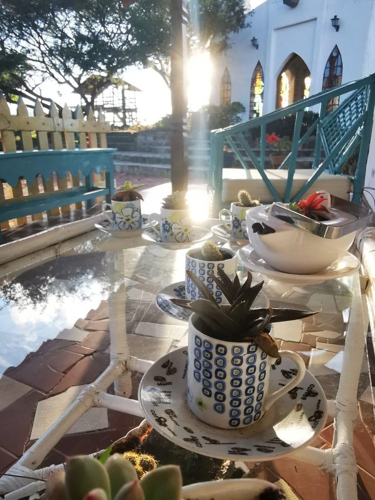Outdoor Poolside Dining at El Pueblito Boutique Hotel Bolivia